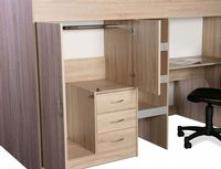 High Sleeper Cabin bed, with Colour options ideal kids safe  bed with wardrobe and desk  Bourne